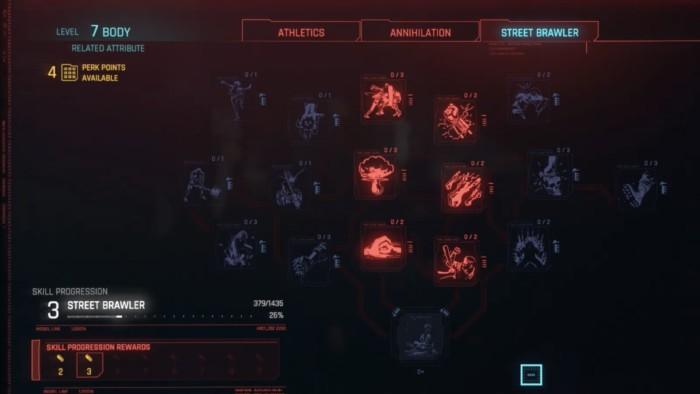 Cyberpunk 2077 Melee Build - Gorilla Arms Build perks