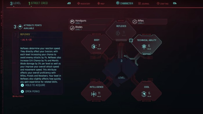 Cyberpunk 2077 Shotgun Build - Perks