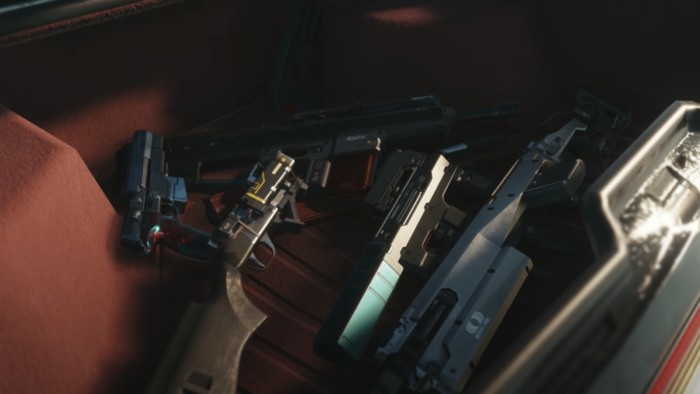 Cyberpunk 2077 Stealth Build - Weapons in trunk