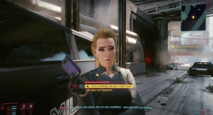 How to Decrypt Militech Shard Cyberpunk 2077 - Screenshot of Meredith Stout