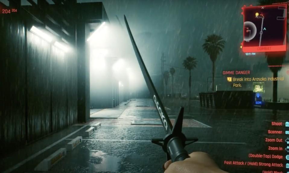 Katana Build Cyberpunk 2077 - Katana in the Rain