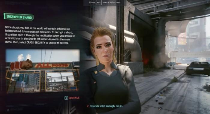 How to Decrypt Militech Data Shard Cyberpunk 2077 - Screenshot showing How to Decrypt Cyberpunk