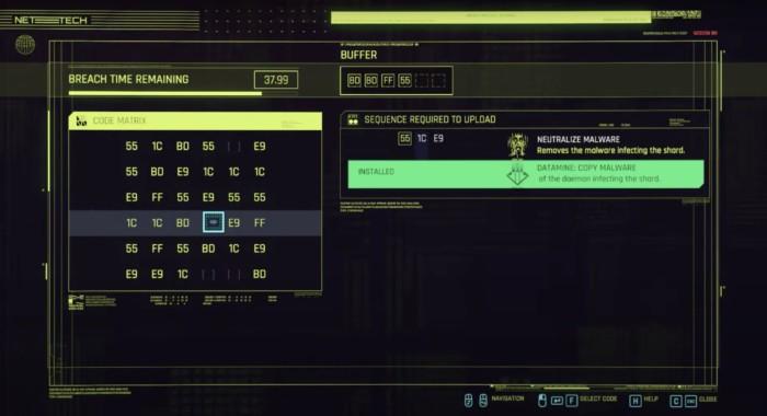 How to Decrypt Militech Data Shard Cyberpunk 2077 - Screenshot showing How to Decrypt Cyberpunk Data Mining