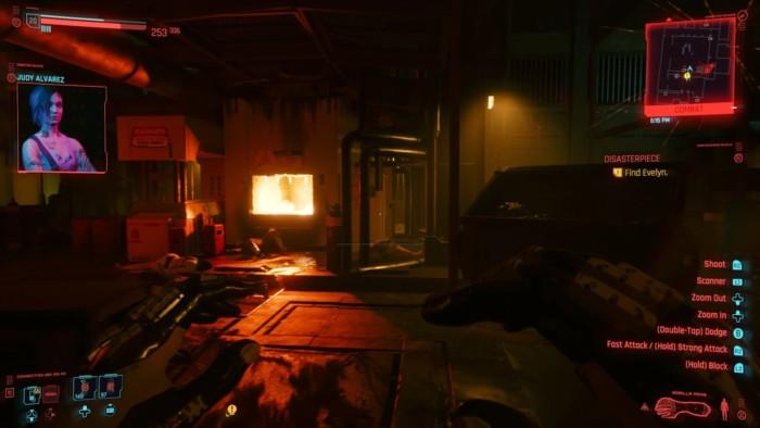 Cyberpunk 2077 Disasterpiece Walkthrough - Incinerator Room