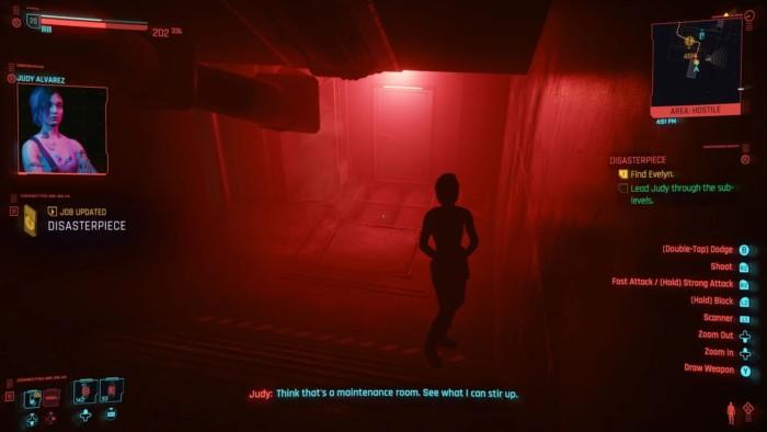 Cyberpunk 2077 Disasterpiece Walkthrough - Judy in Red Glow