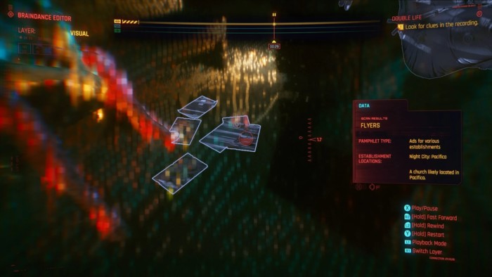 Double Life Walkthrough Cyberpunk 2077 - Flyers Clue