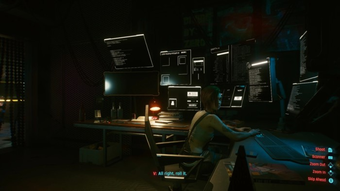 Double Life Walkthrough Cyberpunk - Judy at Workstation