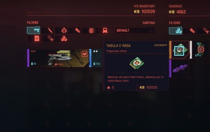 How to Respec Cyberpunk 2077: How to Get Tabula E-Rasa